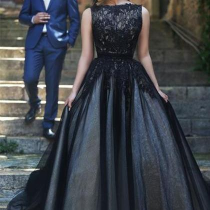 Prom Dress Long Black Formal Dress ..