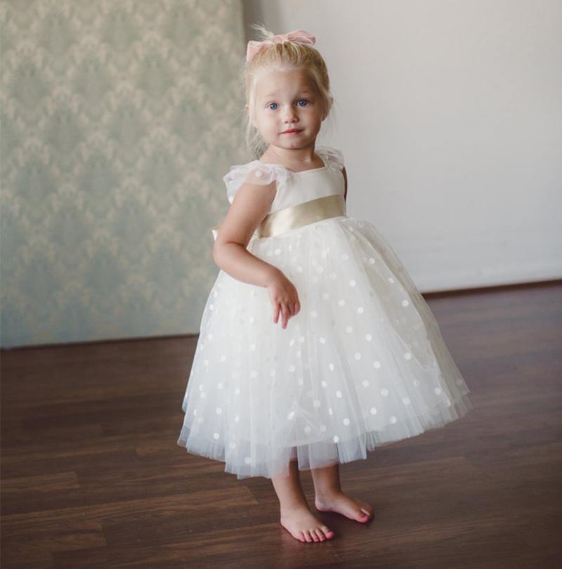 Polka Dots Flower Girl Dress