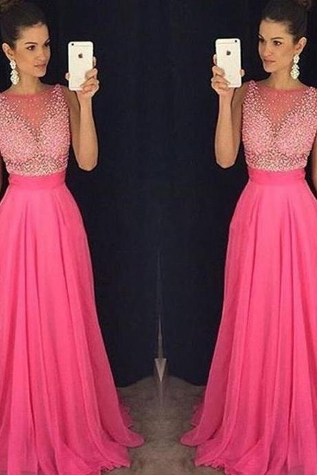 Rose Red Chiffon Formal Occasion Dress Prom Dress Party Dress