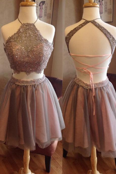 2 pieces homecoming dress short prom dress graduation dress