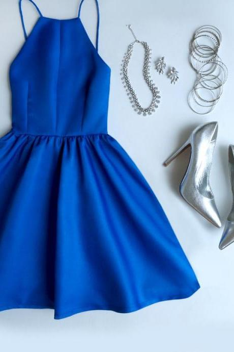 Royal Blue Short Graduation Dress