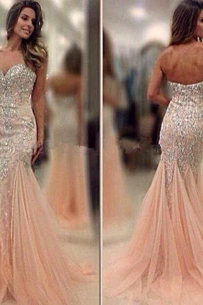 Mermaid Prom Dress with Crystals