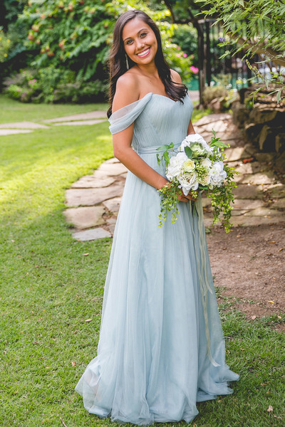 Light Grey Chiffon Summer Wedding Dress