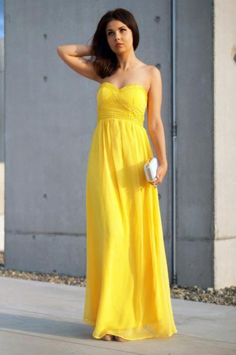 Yellow Max Dress
