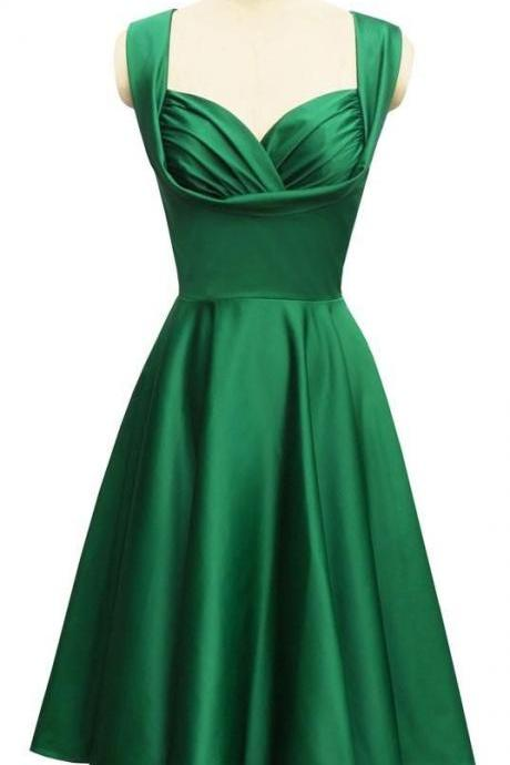 Emerald Green Short Dress
