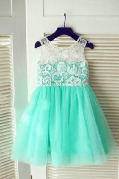 Turquoise Flower Girl Dress