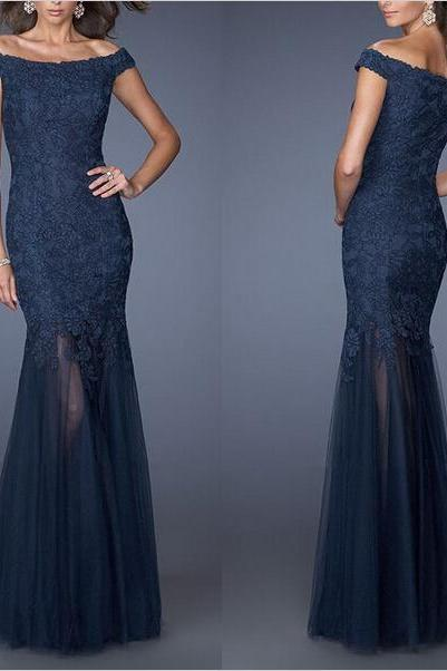 Navy Formal Occasion Dress