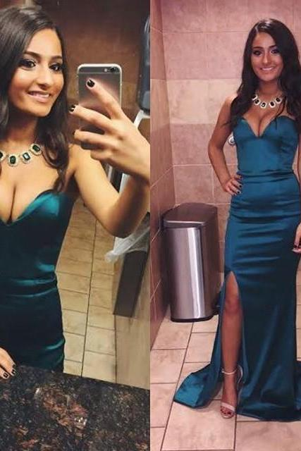 Simple Prom Dress with Slit