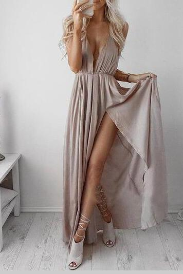Sexy Maxi Dress with Slit