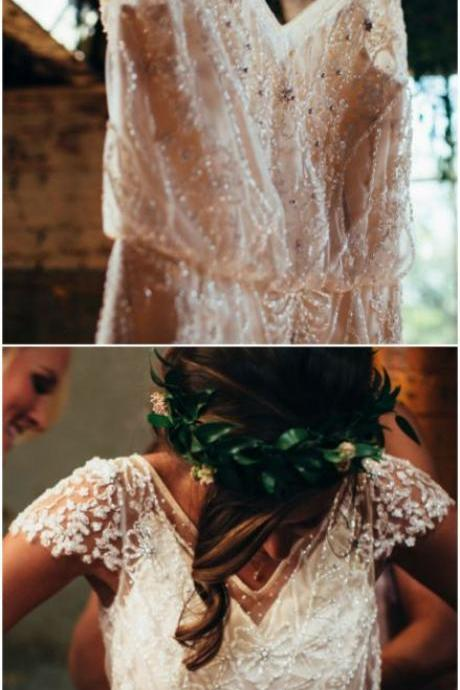 Stylish Boho Country Wedding Dress