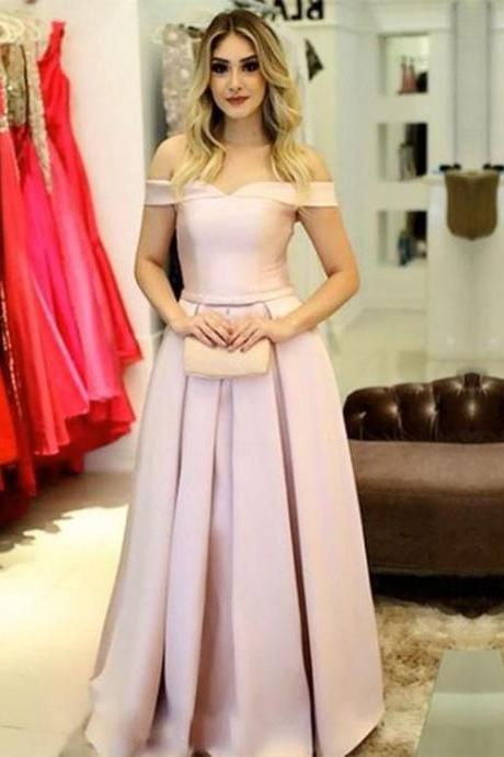 Off the Shoulder Corset Prom Dress