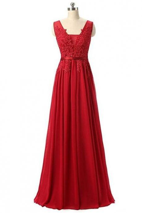 Long Red Formal Occasion Dress