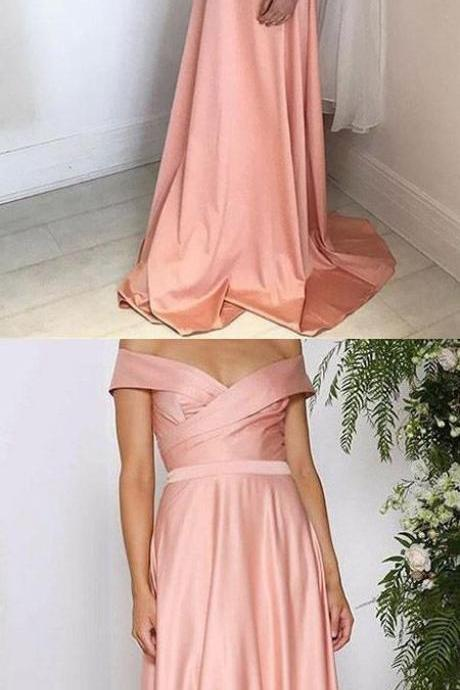 Off the Shoulder Evening Gown Floor Length Pageant Dress