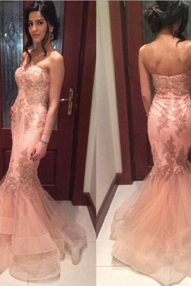 Sleeveles Mermaid Prom Dress Evening Gown