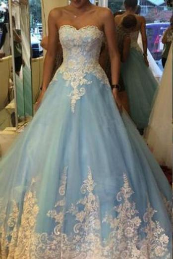 Prom Dress Sweetheart Floor Length Special Occasion Dress with Appliques Lace