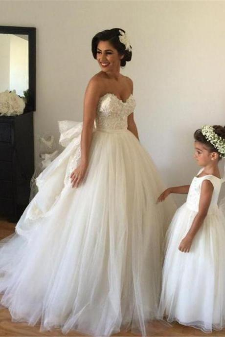 Bustle Ball Gown Wedding Dress Off the Shoulder