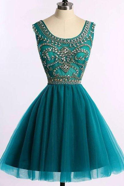 Short Beaded Graduation Dress