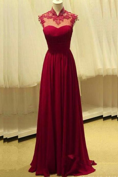Illusion Sweetheart Floor Length Formal Occasion Dress with Mandarin Collar