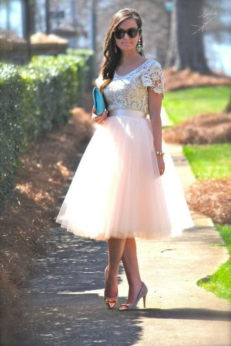 Knee Length Short Tutu Skirt