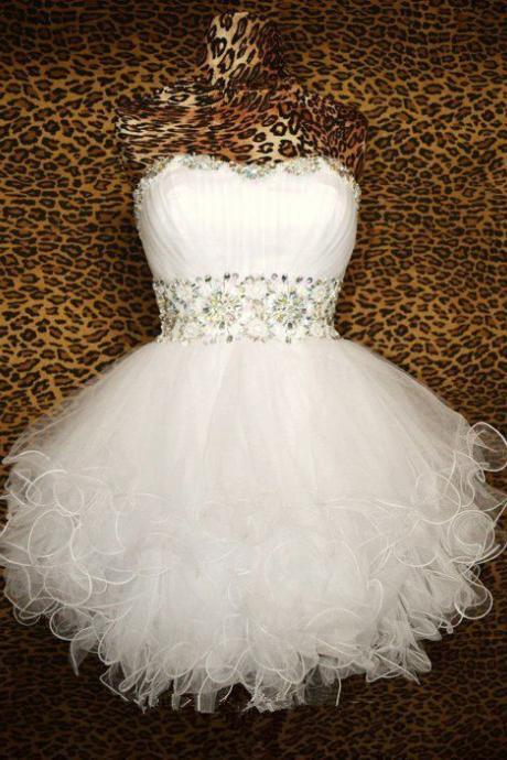 Strapless Short Homecoming Party Dress