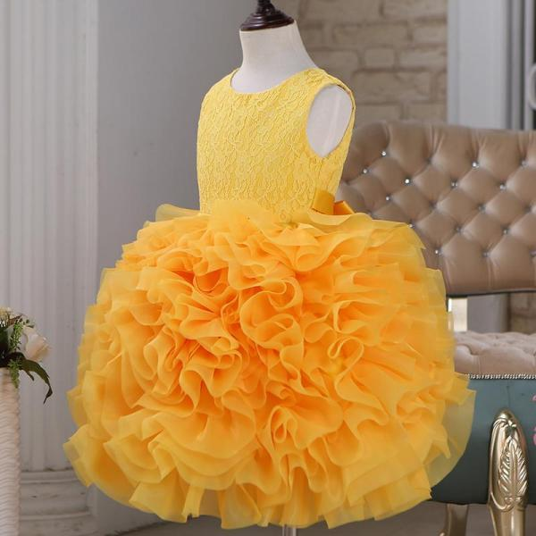 Organza Organza Lace Ball Gown Flower Girl Dress